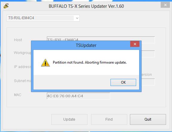 Buffalo TerraStation NAS: Emergency Modus – so wird es