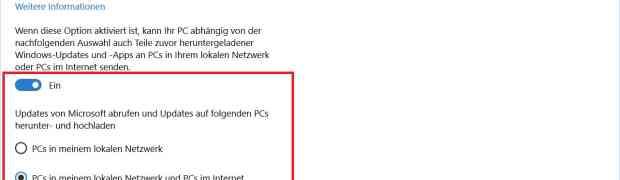 Windows 10 macht euch zum Update-Server - so verwaltest du die Einstellungen